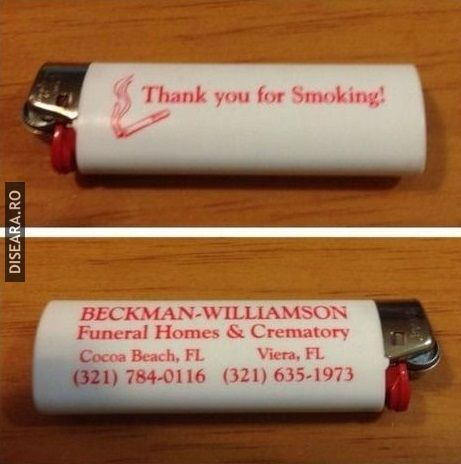 Thank you for smoking!