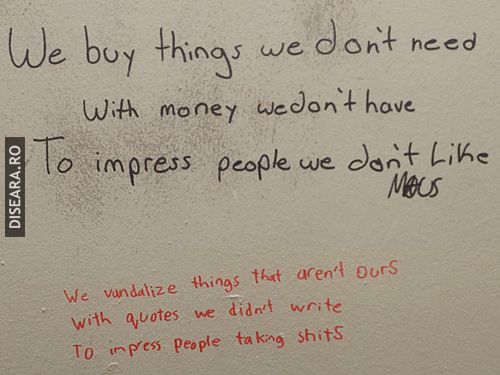 The comments at the toilet