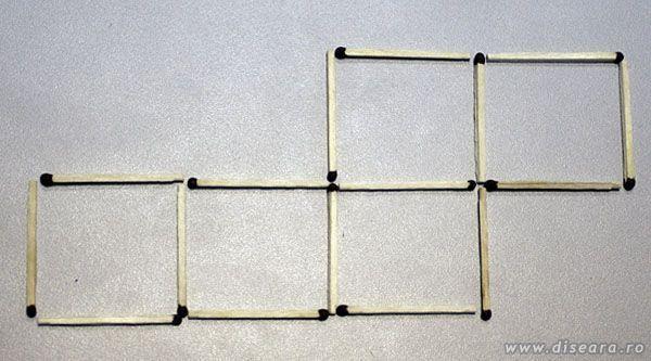 Как из 5 спичек сделать 4 квадрата
